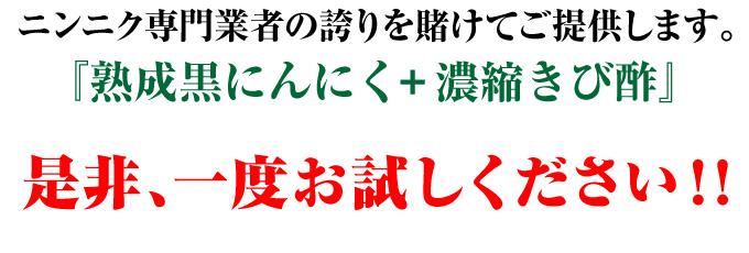 熟成黒にんにく+濃縮きび酢 是非一度お試し下さい!!